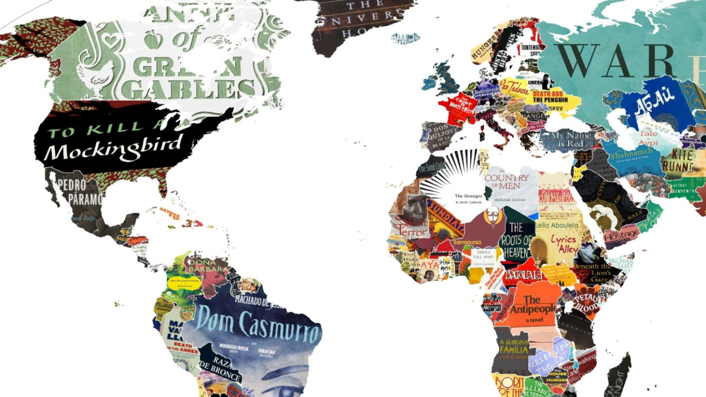 Chart Every Country S Favourite Book On This Map Vice