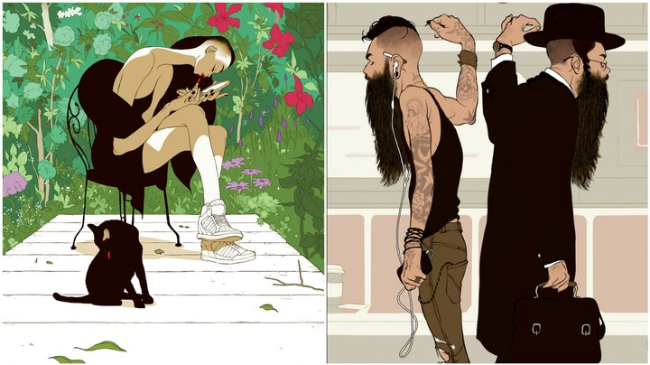 Tomer Hanuka's World Of Anime Heroes and Everyday Moments