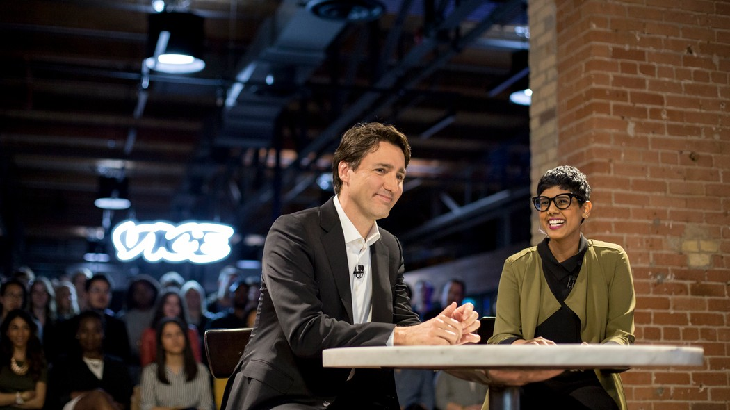 Image result for Vice Canada last month, Prime Minister Justin Trudeau