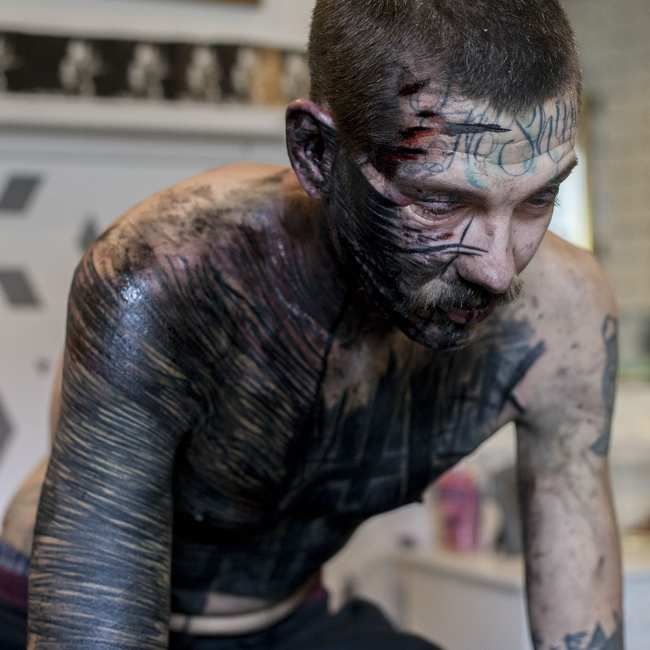 2dc47fa97 Meet the Tattoo Collective That Prioritizes Pain Over Aesthetics - VICE
