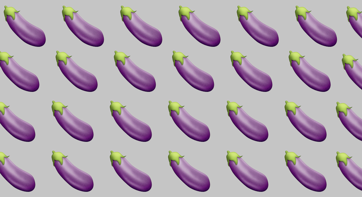 What does the eggplant emoji stand for