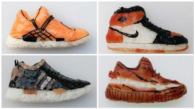 "54aaac0bbdbc The Art of ""Shoe-Shi,"" Shoe-Shaped Sushi - VICE"