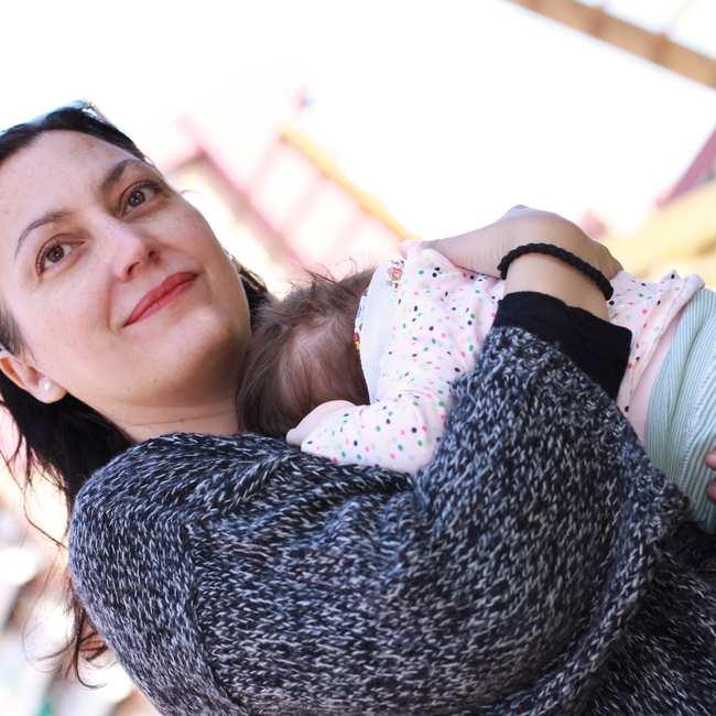 87328df33 Laura González con su hija. Todas las fotografías por la autora