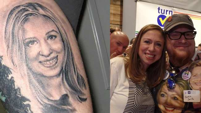 I Tattooed Chelsea Clinton\'s Face on My Body and I Regret Nothing - VICE