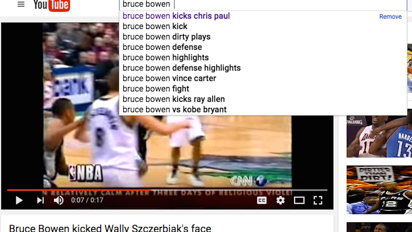 "Guy who Kicked Wally Szczerbiak in the Face Zaza ""Crossed the"