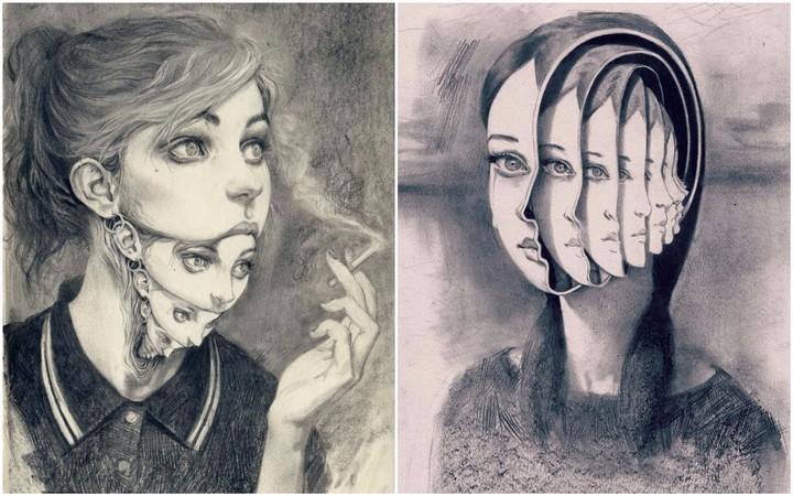 Surreal Pencil Drawings Look Like How Repressing Your Emotions Feels