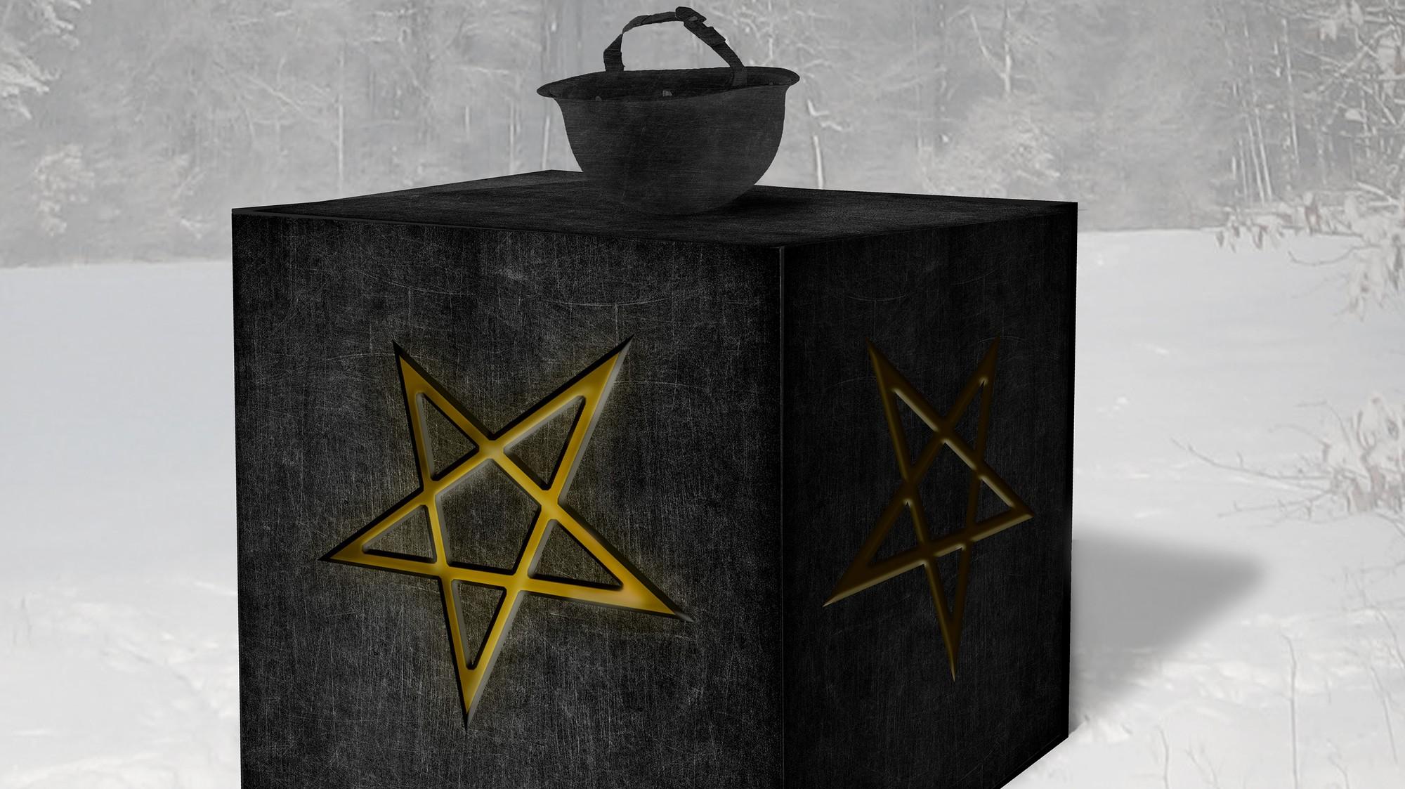The Satanic Temple Built a Black Cube Monument to Honour