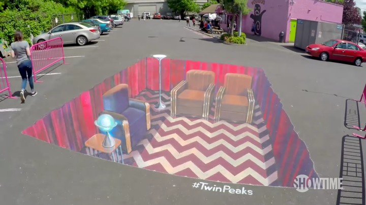 Twin Peaks Comes to Portland with a Mind-Boggling Optical Illusion Mural