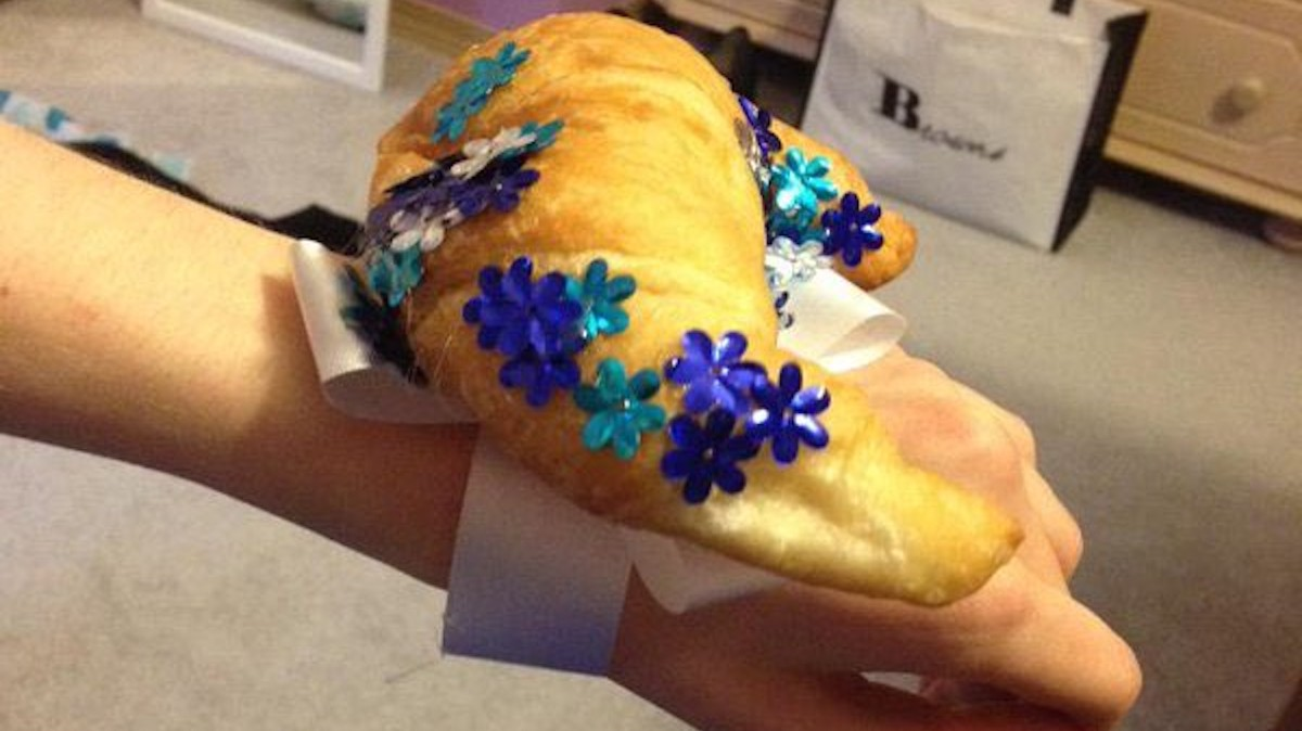 teenagers are wearing croissants to the prom because of a