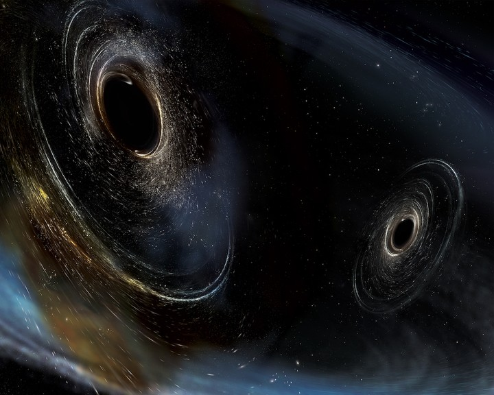 Due buchi neri si sono scontrati lacerando il tempo e lo spazio