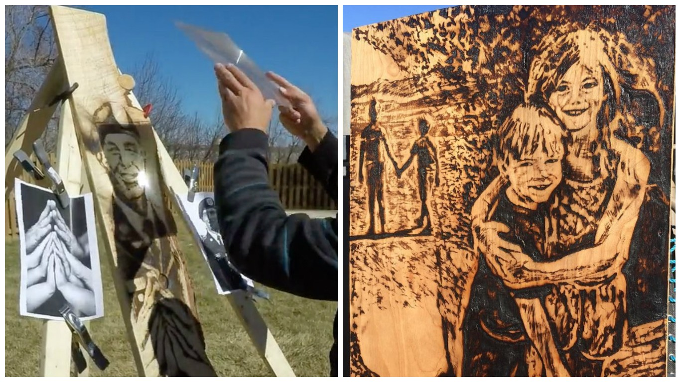 The Artist Using Sunlight And A Magnifying Glass To Make Amazing - Artist creates art power sunlight magnifying glass