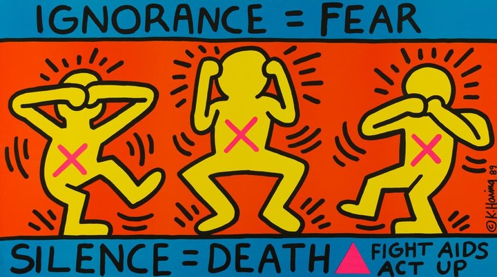 Keith Haring's Earliest Posters Go On Display