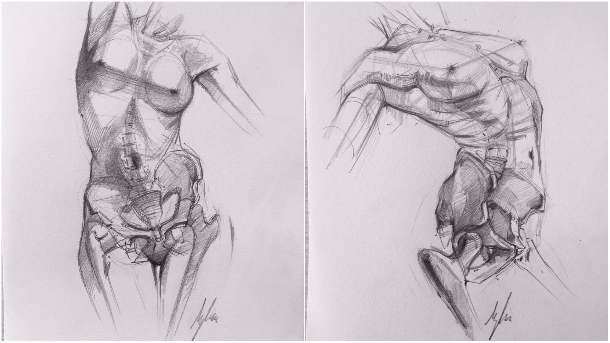 Melt Away Figure Drawings Reveal The Skeletons Beneath Creators