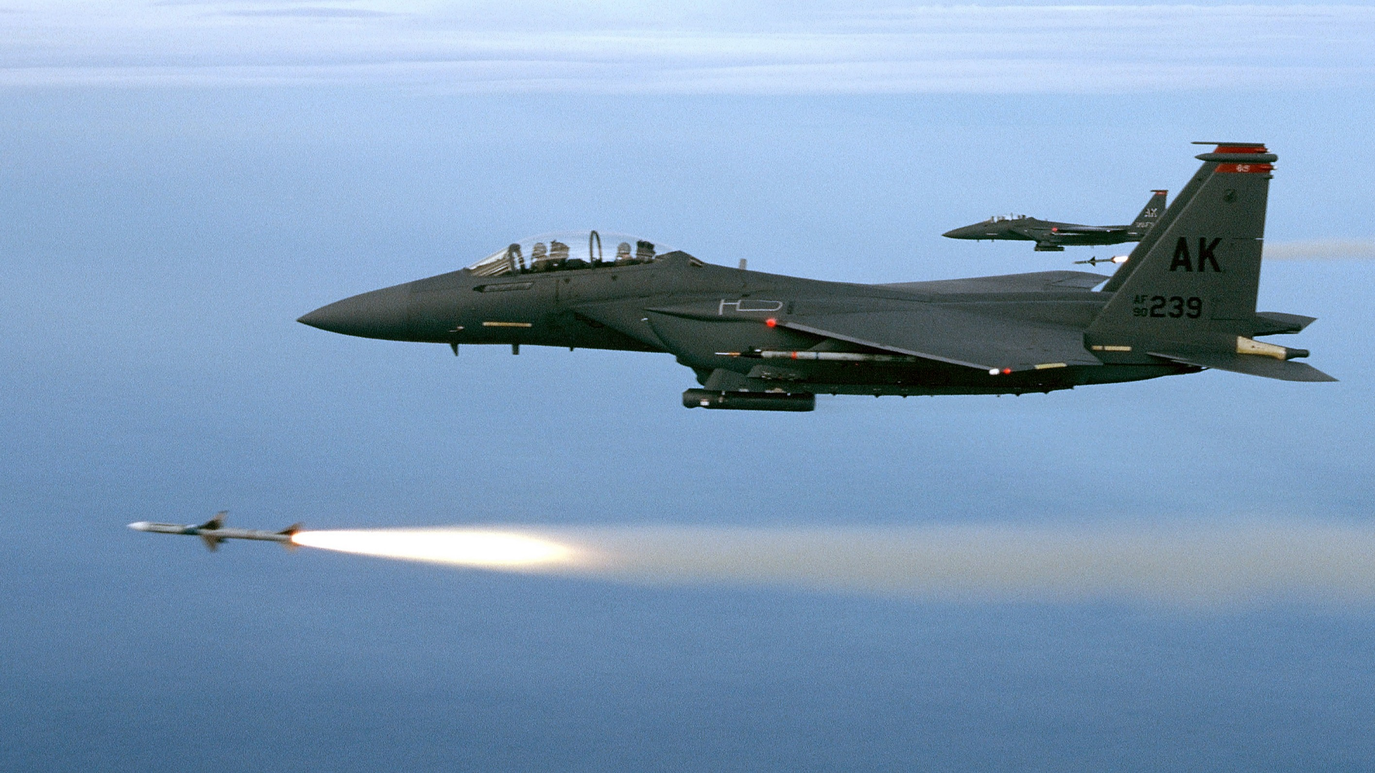F 15E Lightning Firing A Missile Image US Air Force