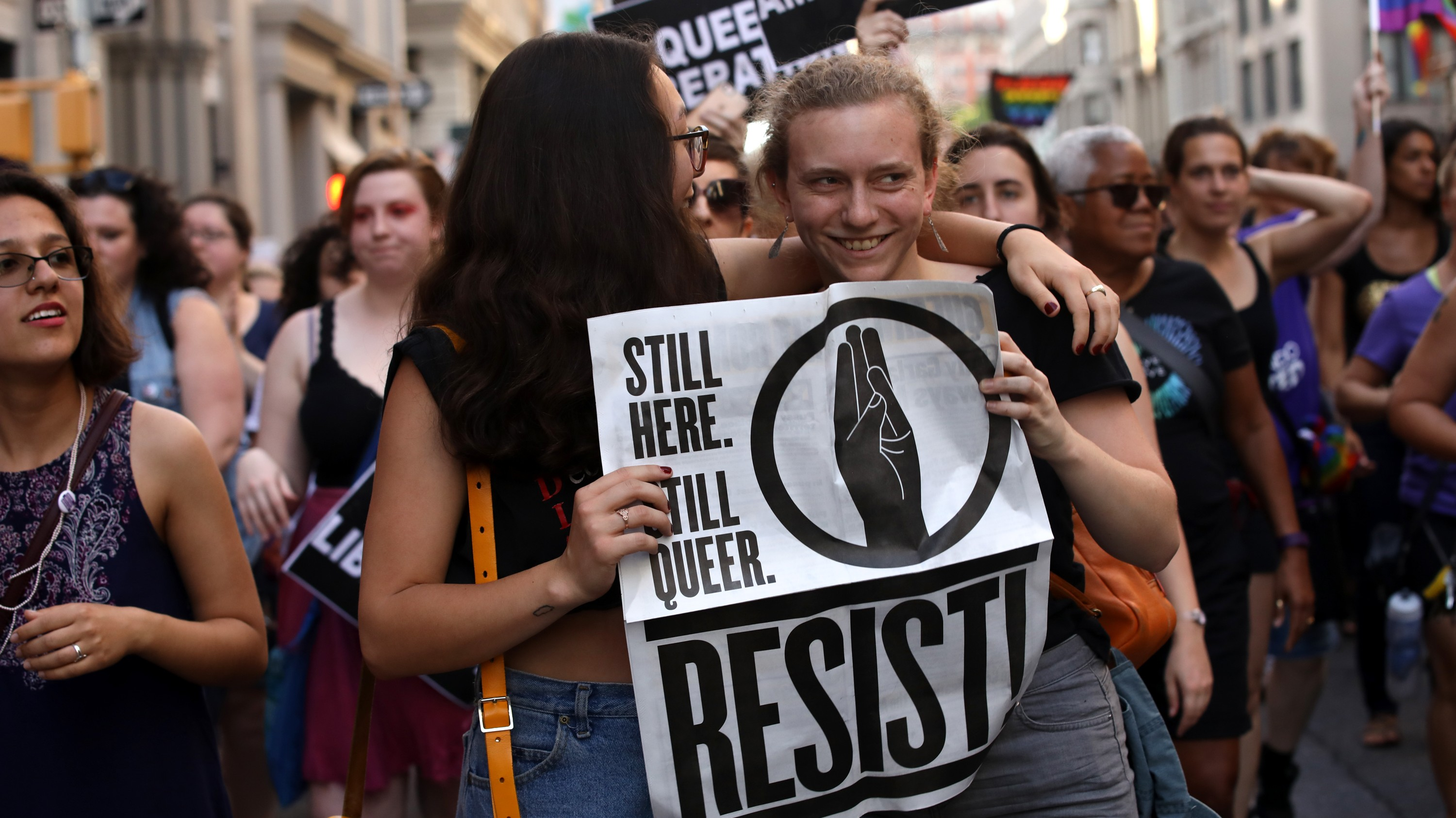 photo essay broadly in photos thousands of lesbians protest for dyke
