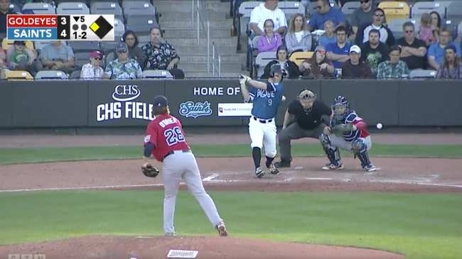 Indy League Catcher Makes Behind The Back Catch On Foul Tip Vice
