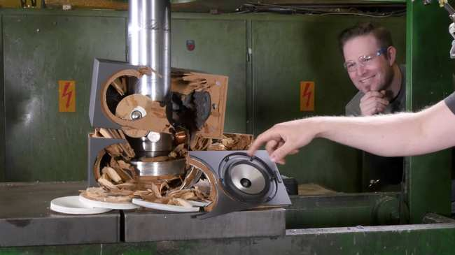 not even sandstorm can withstand the power of a hydraulic press