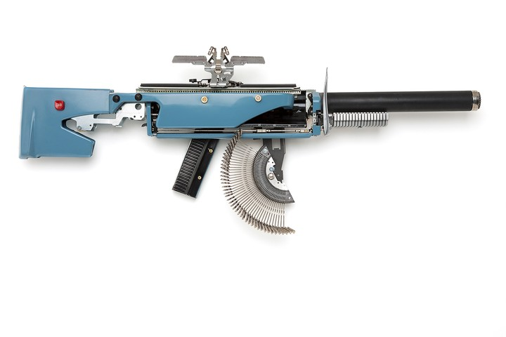 This Artist Recycles Typewriters into Guns