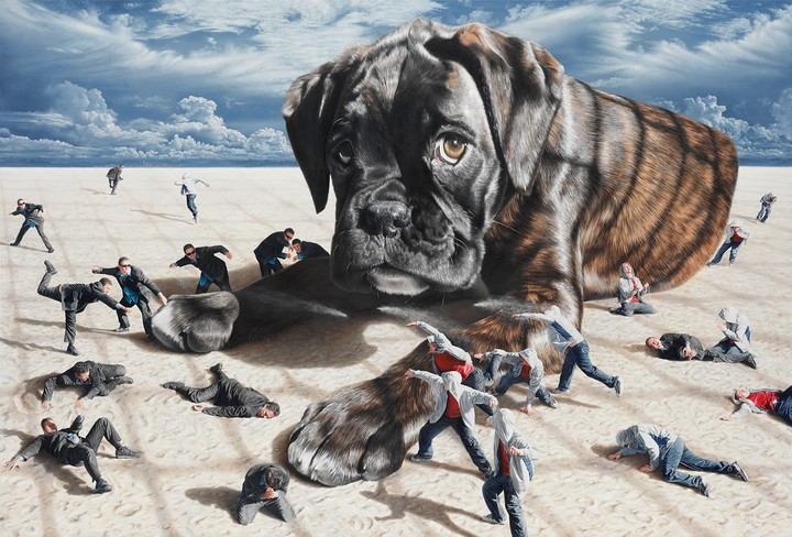 The Surreal Scenes in These Paintings are Darker Than They Seem