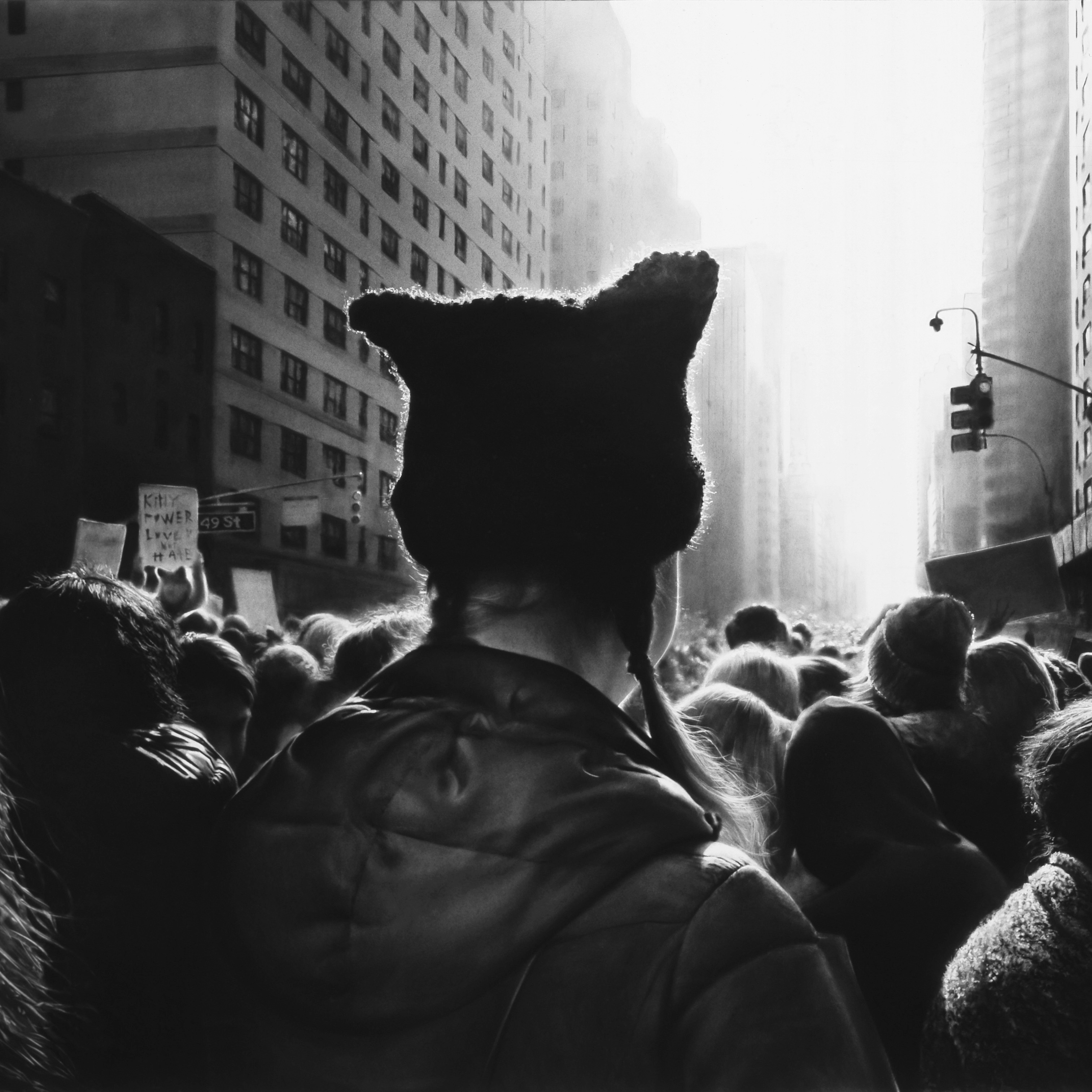 Image result for Longo, Untitled (Black Pussy Hat