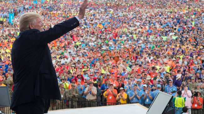 Trump Forced Boy Scouts to Listen to a Story About Rich Friends and