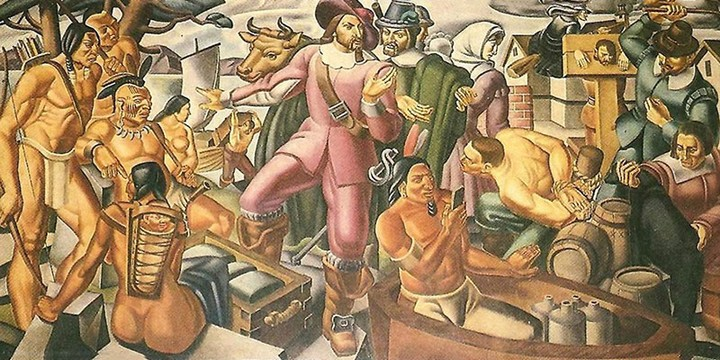 Do We All See the Man Holding an iPhone in This 1937 Painting?