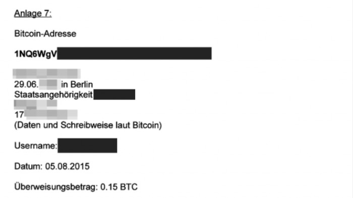 Bitcoin dados de clientes