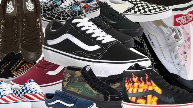 vans scarpe di gomma nera