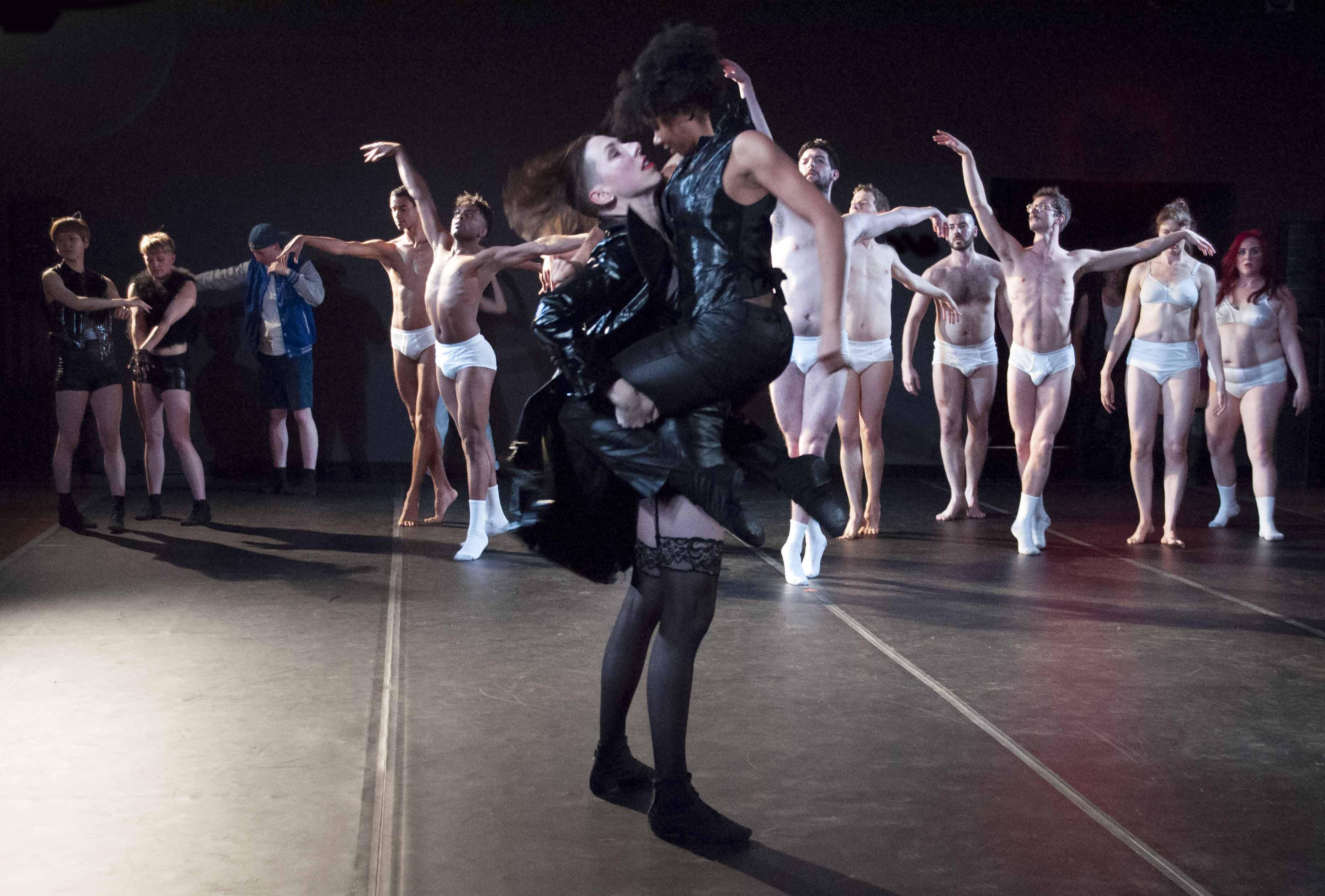 Dancer lesbian video