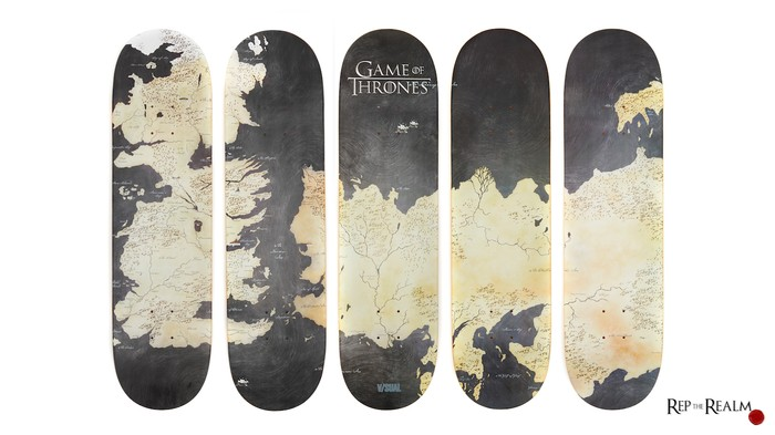 Shred Westeros on These Game of Thrones Map Skateboards