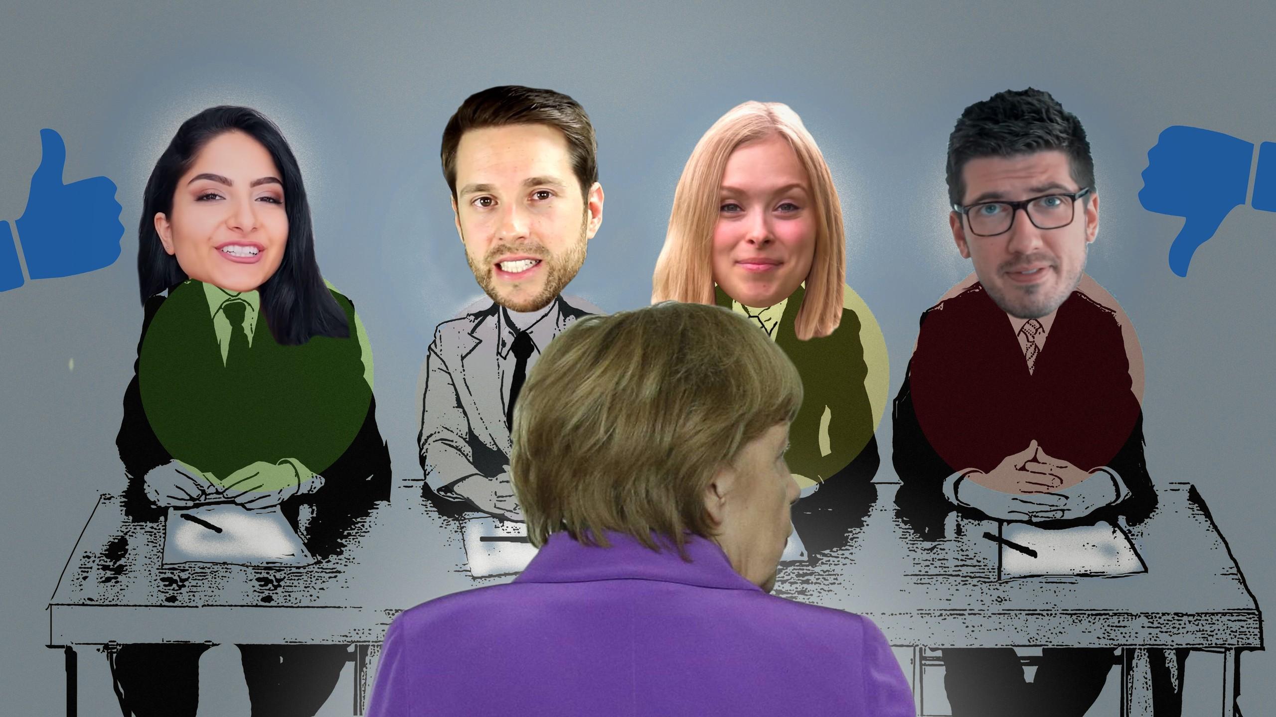 Wie Angela Merkel vier YouTuber plattmacht #DeineWahl