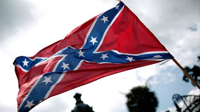 a new yorker is facing eviction for hanging confederate flags in his
