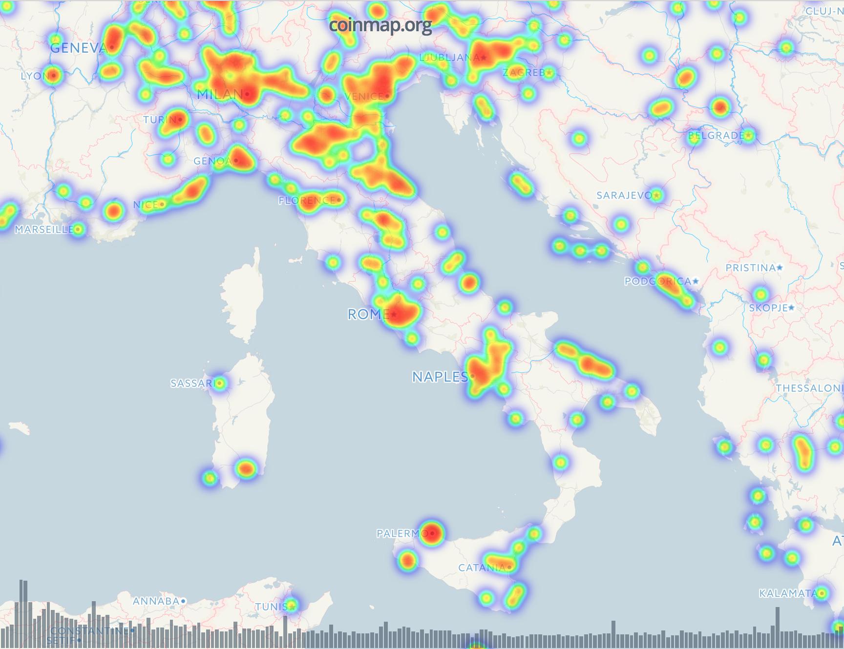 Quanti sono i bancomat di Bitcoin nel mondo? Le mappe per seguire le criptovalute
