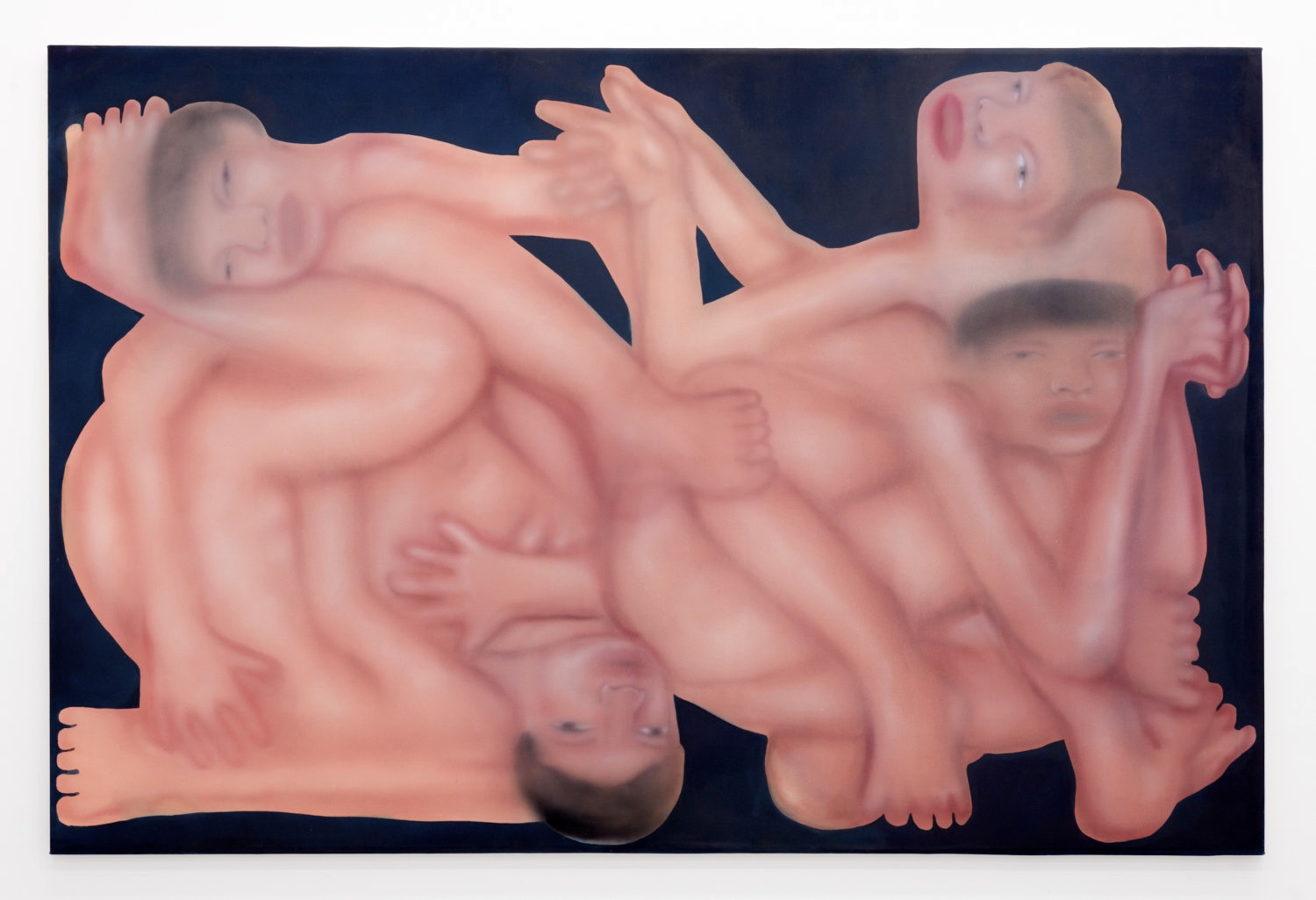 in dirty water is an orgy of erotic art by emerging painter george rouy
