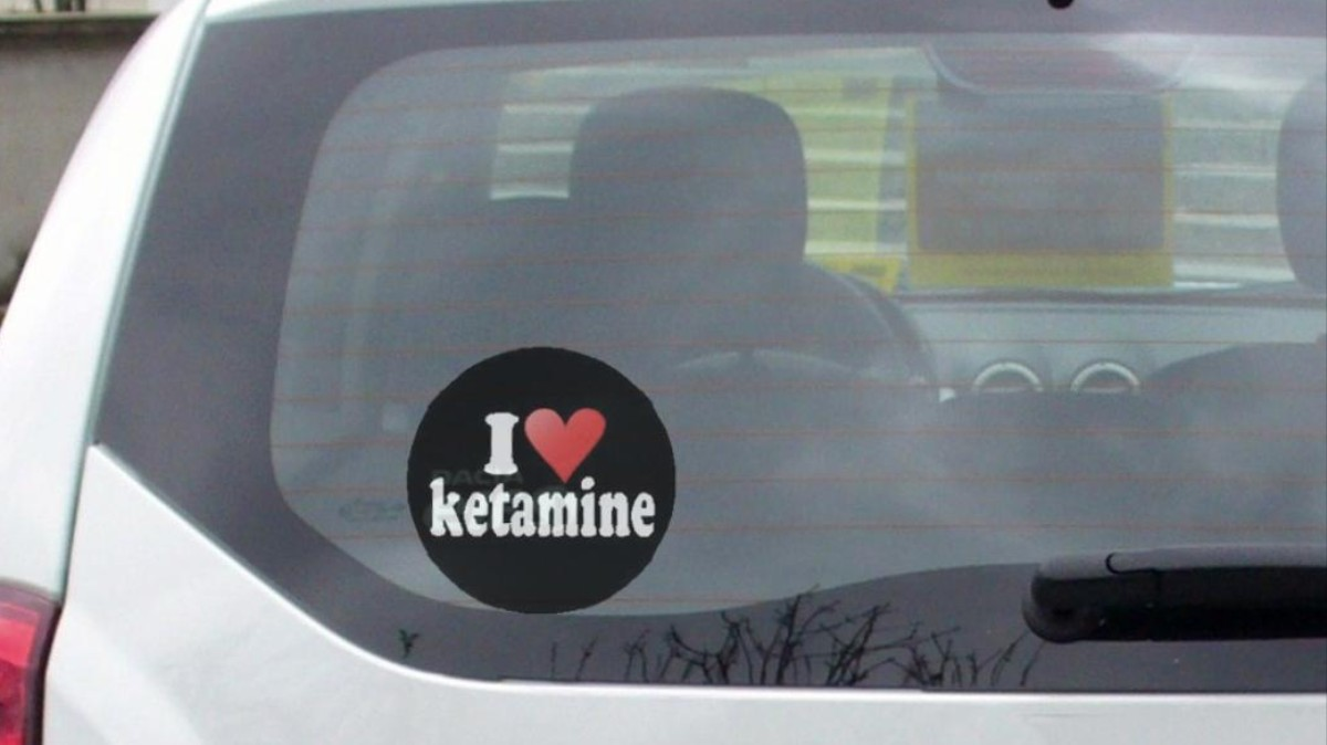 Man with 'I Love Ket' Bumper Sticker Caught with Ketamine