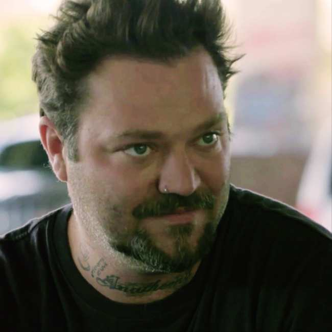 Bam Margera  - 2020 Dark brown hair & chic hair style.