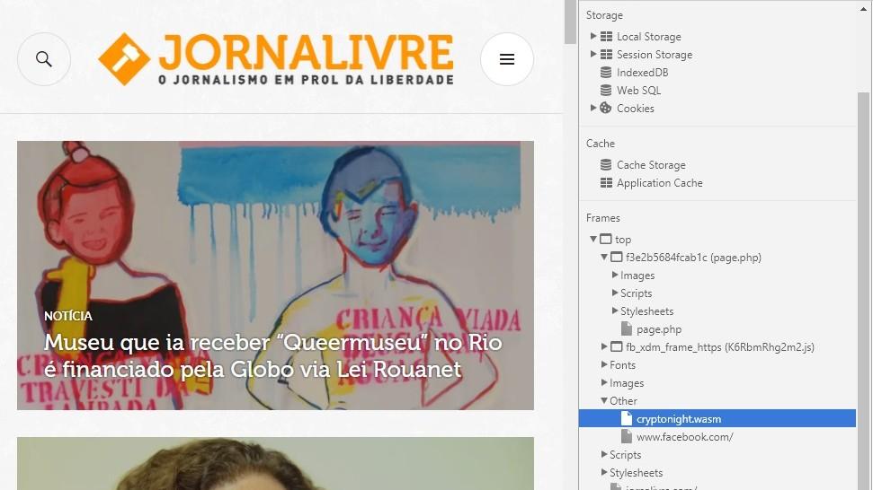 O site Jornalivre está explorando seu computador sem você saber