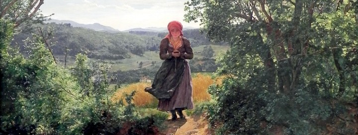 Do We All See the Woman Holding an iPhone in This 1860 Painting?
