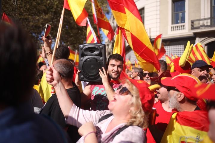 En fotos, la manifestación en Barcelona por la unidad de España