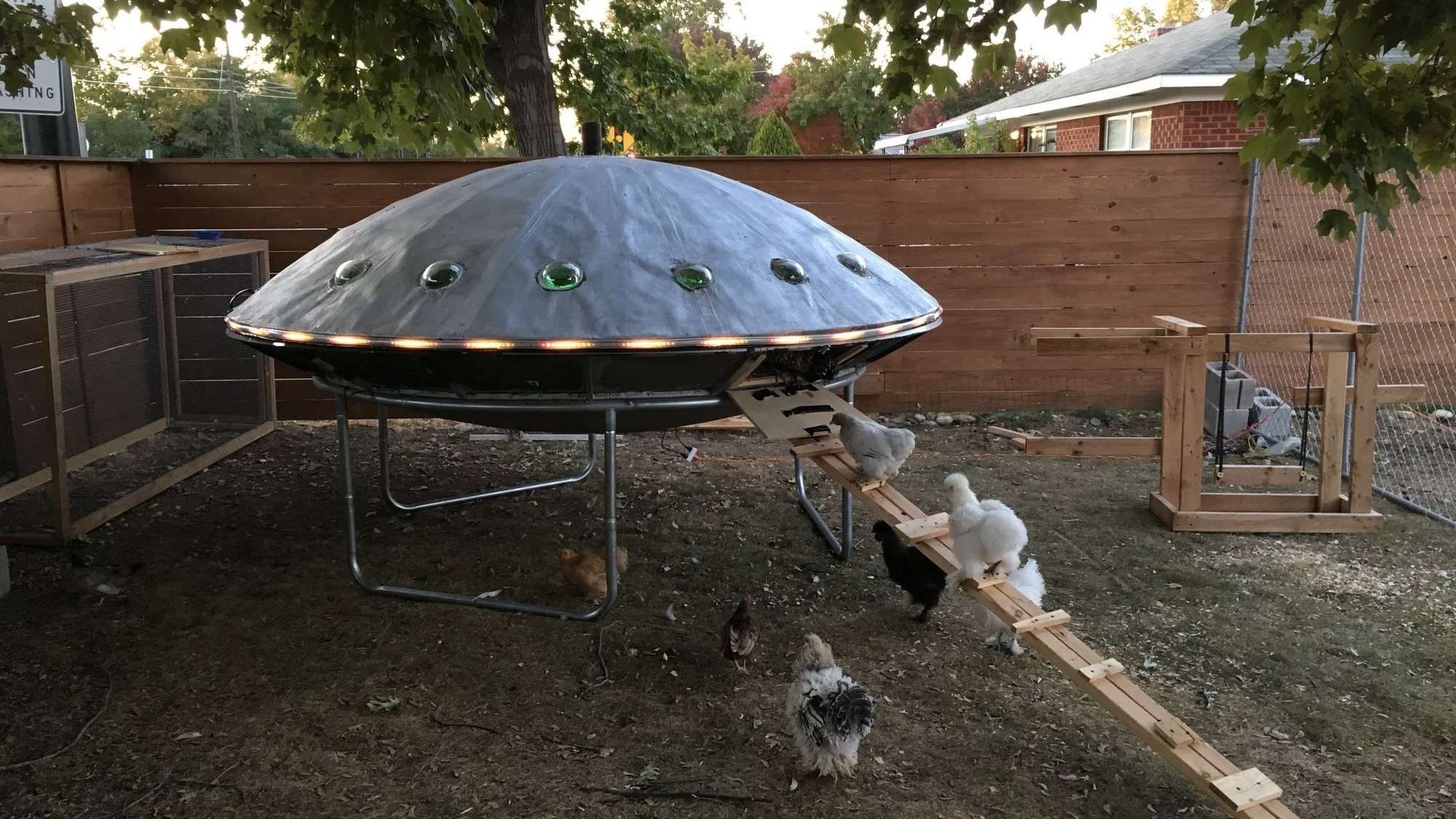 alien obsessed idaho couple builds ufo shaped chicken coop munchies