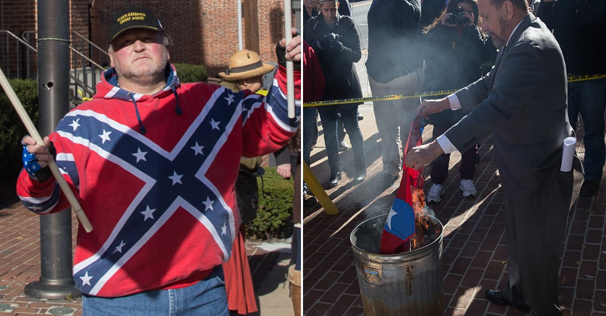 Meet the Guy Who Burns Confederate Flags at NASCAR Races