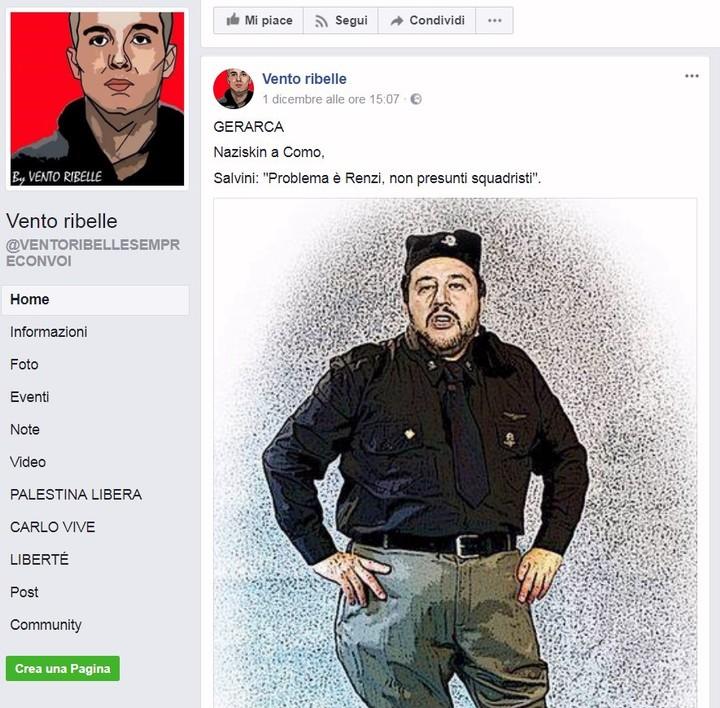 Cos'era 'Vento Ribelle', la pagina che ha condiviso il meme con Salvini ostaggio delle BR