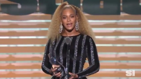Image result for Beyoncé surprises, gives Colin Kaepernick the Muhammad Ali Legacy Award