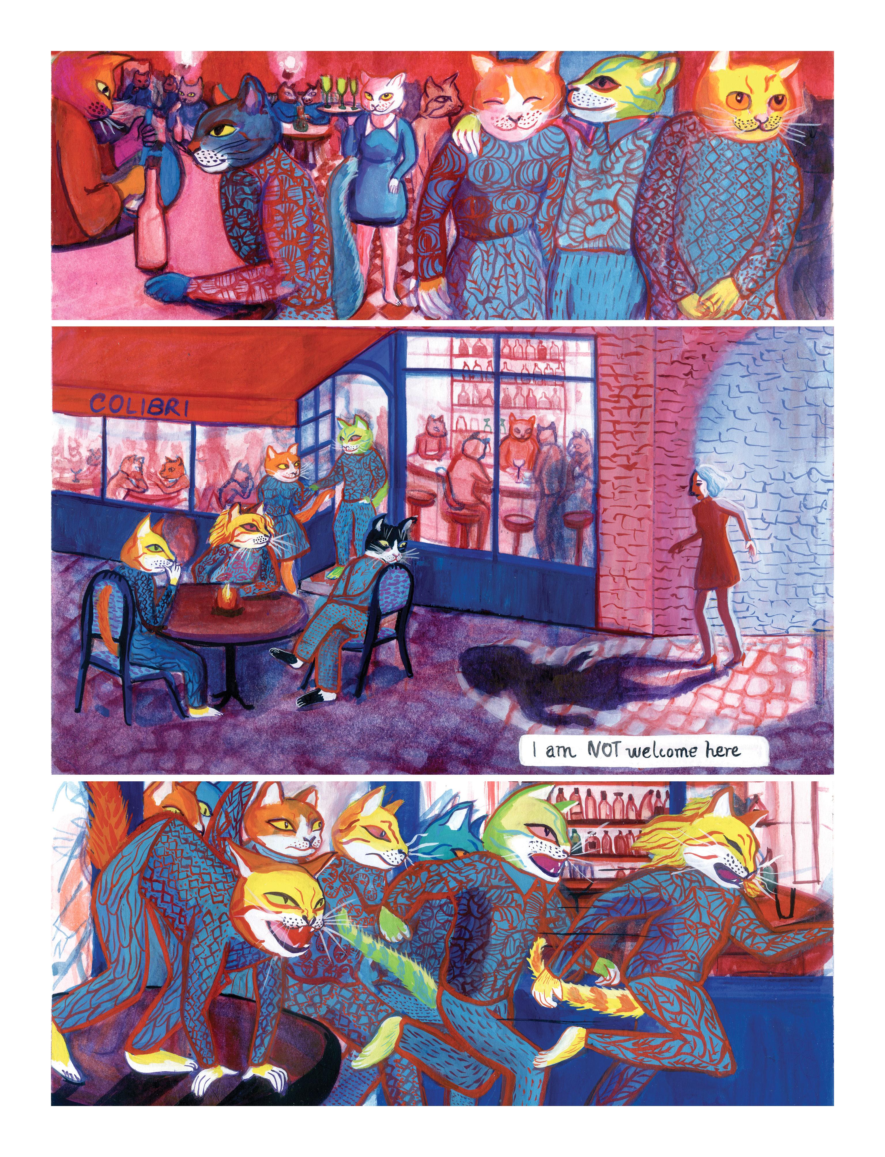 'Den Katzen gehört die Stadt' – ein Comic von Rosa Arango