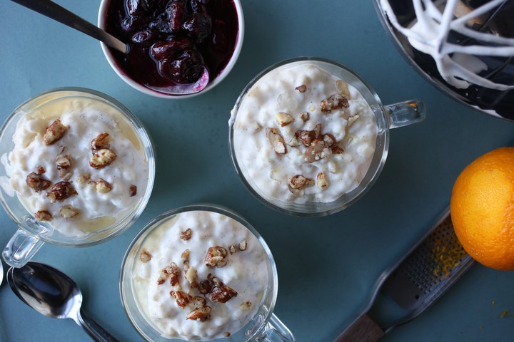 Almond Rice Pudding (Risalamande)