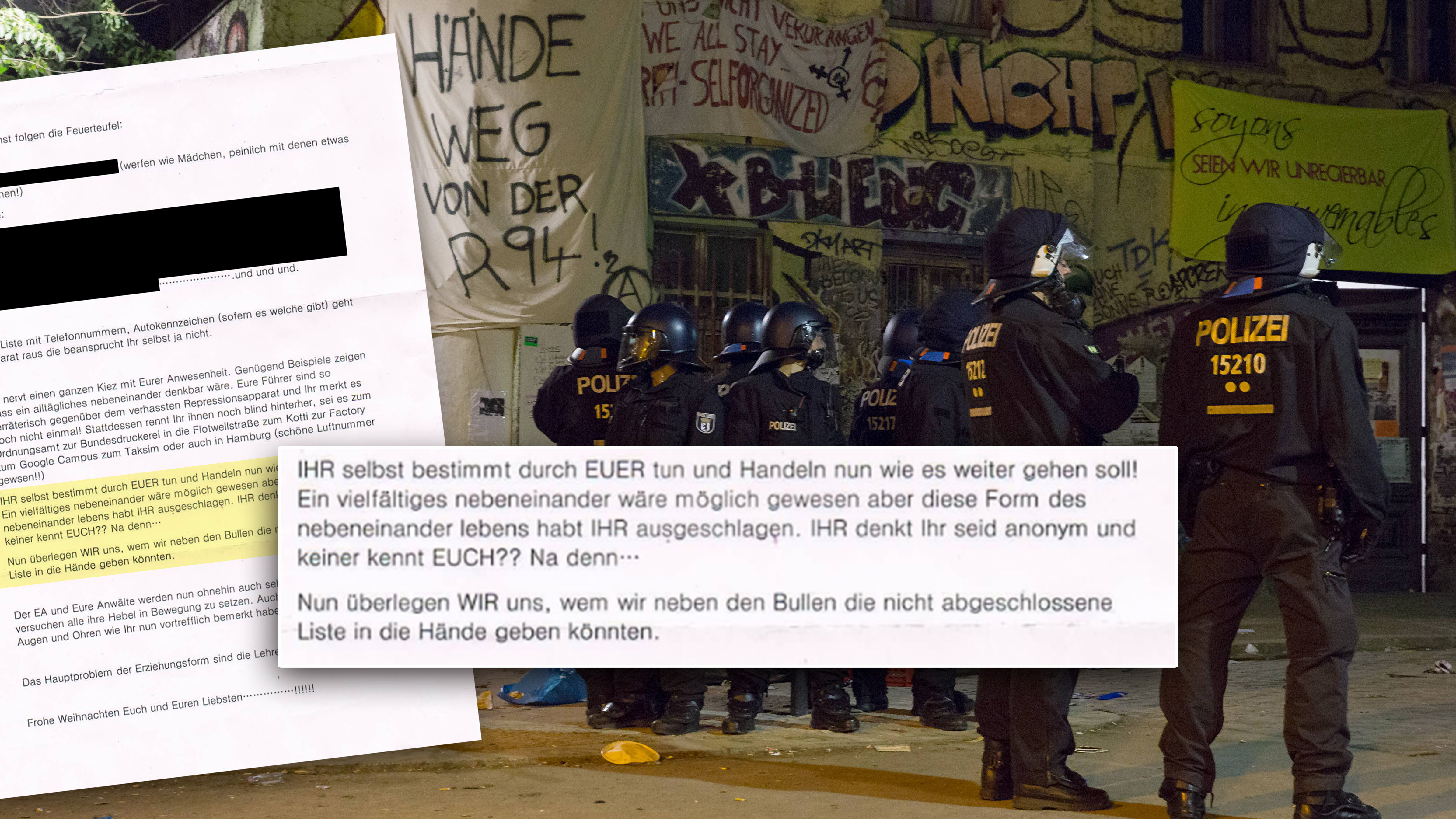 Berliner Polizisten sollen anonym Drohbriefe an Linksautonome ...