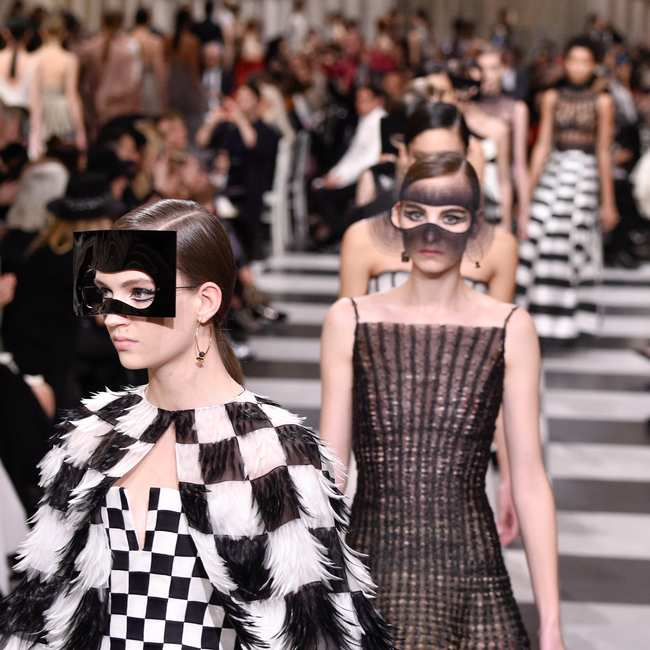 dfd82cdcef At Dior  Why Is Everyone in Fashion Wearing Masks  - GARAGE
