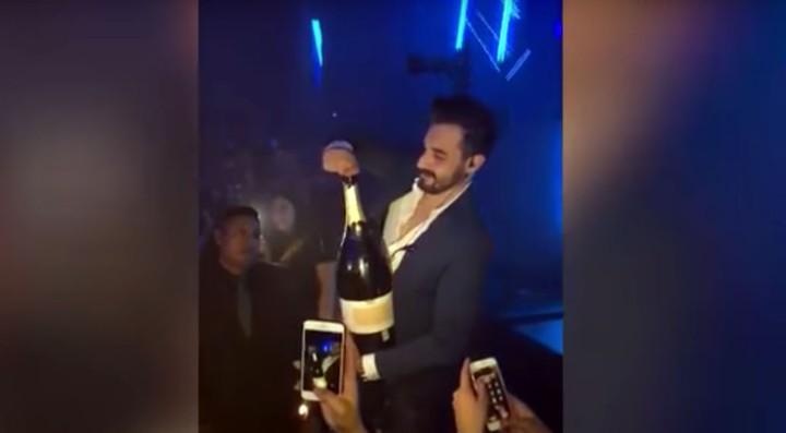 Watch a Man Drop a £30,000 Bottle of Champagne in a Nightclub