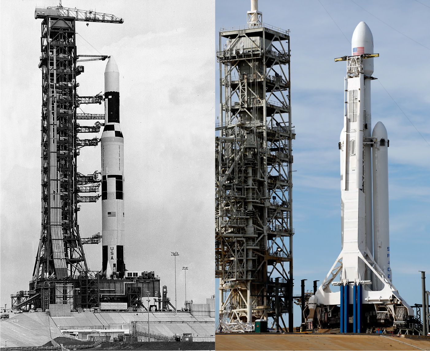 SpaceX's Falcon Heavy is a big rocket. NASA's Saturn V was ...
