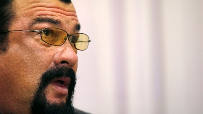 Steven Seagal has graduated from shilling for Russian arms to cryptocurrency